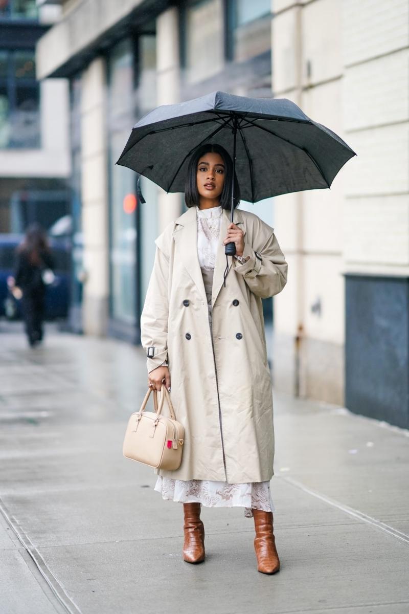 bottes marron comment s habiller quand il pleut sac main beige