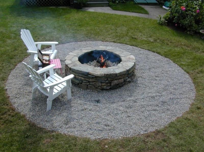 brasero en pierre construction maison facile chaise longue