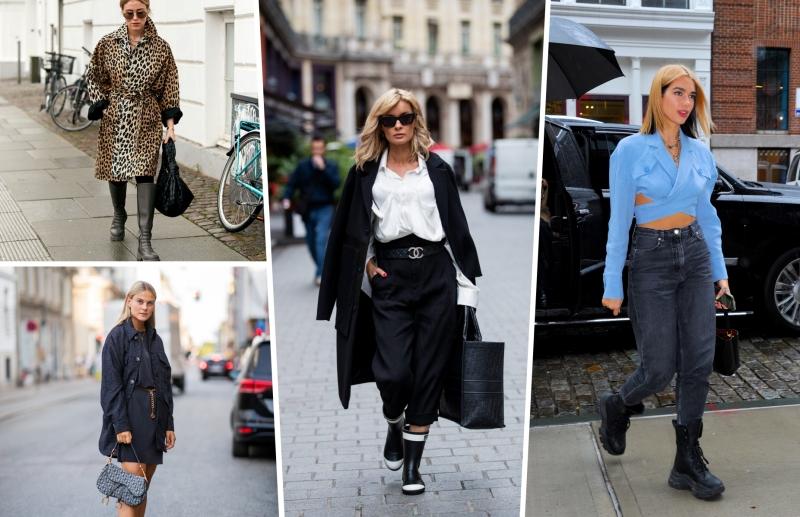 chaussures pluie bottes jeans dua lipa tenue crop top bleu