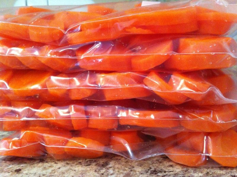 comment conserver les carottes carottes coupées dans un sac hermétique