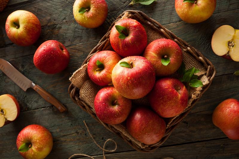 comment conserver les pommes un panier rempli de pommes rouges de type fuji