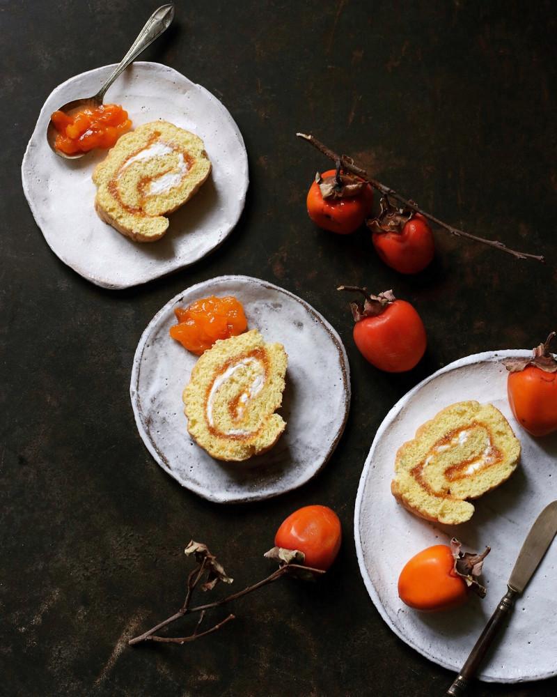 comment mange t on un kaki faire des gâteaux légers avec de la crème et de la purée de kaki