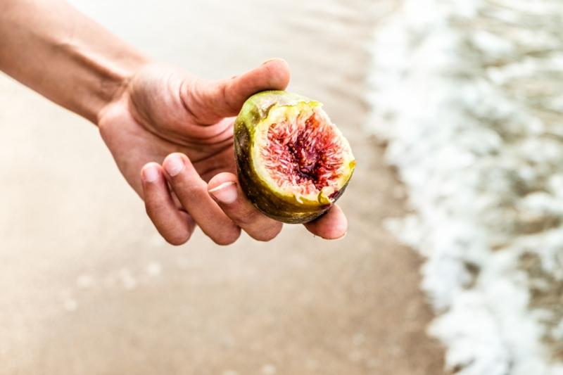 comment manger une figue une figue au bord de la mer