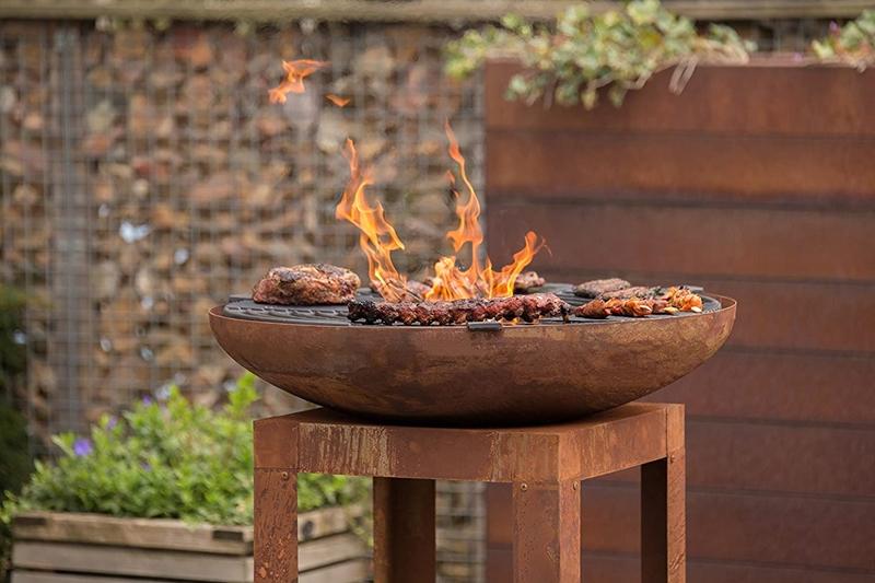 fabriquer un brasero plancha fait maison matériaux feu