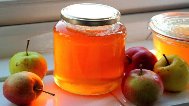 gelée de pommes un bocal en verre de gelée de pommes