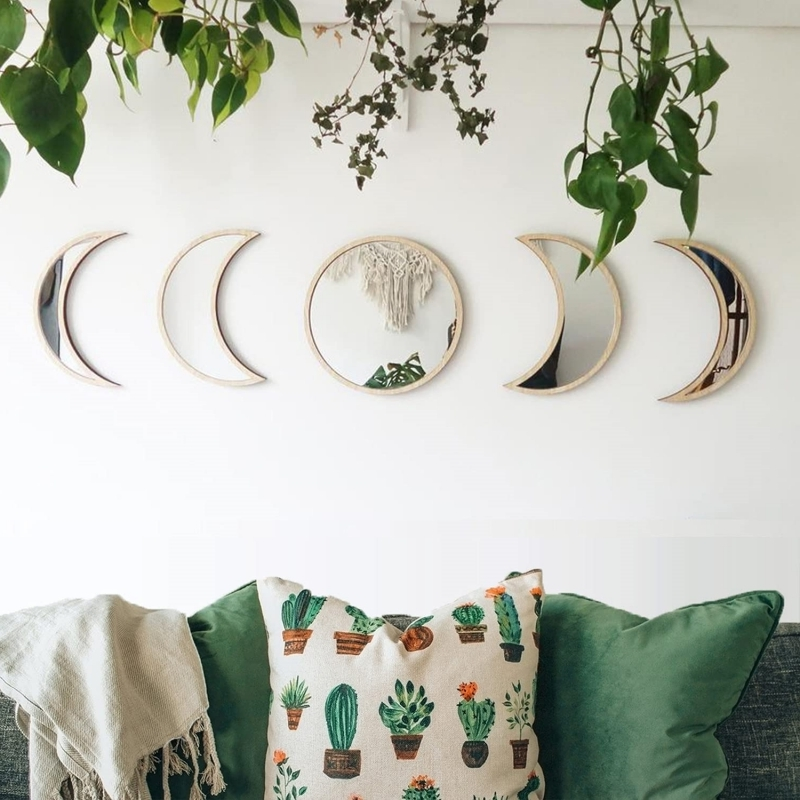 habiller le tour d un miroir en bois coussin cactus déco