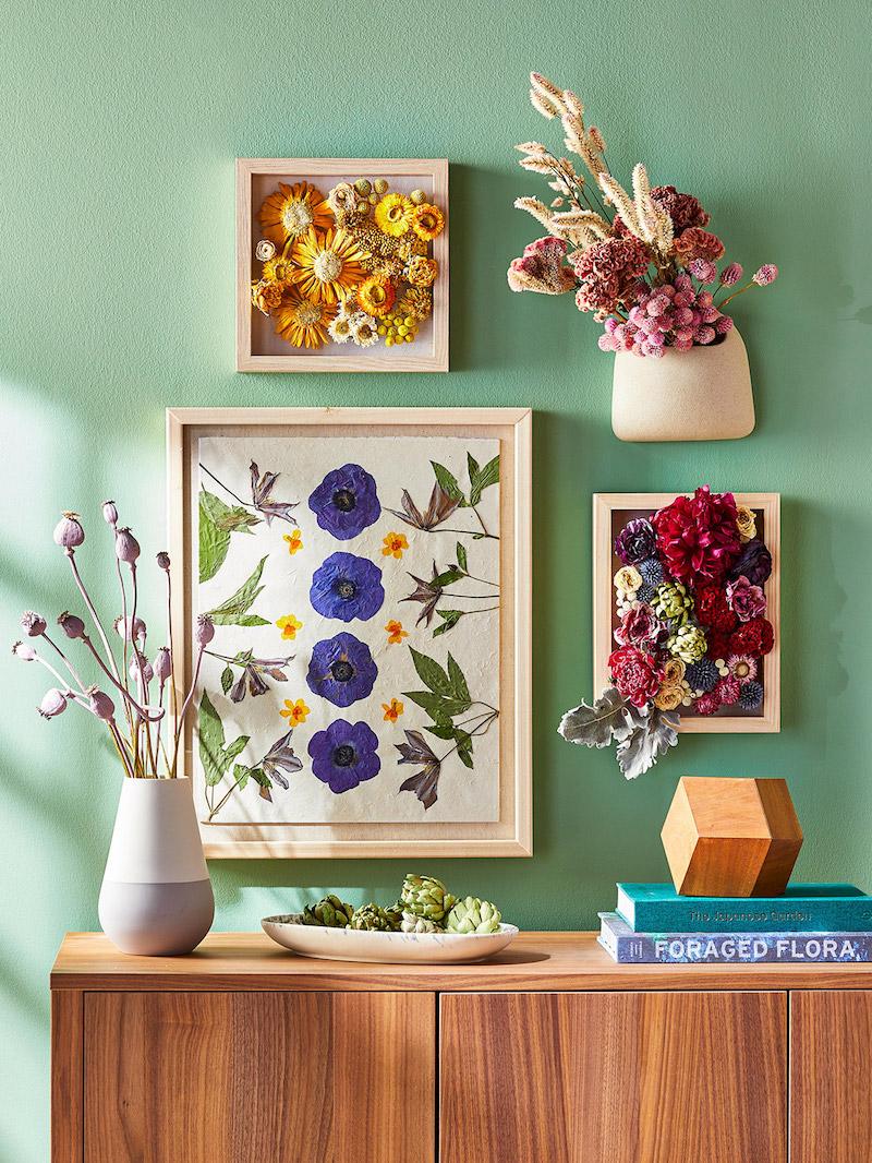 idées de deco avec fleurs séchées faire des fleurs séchées