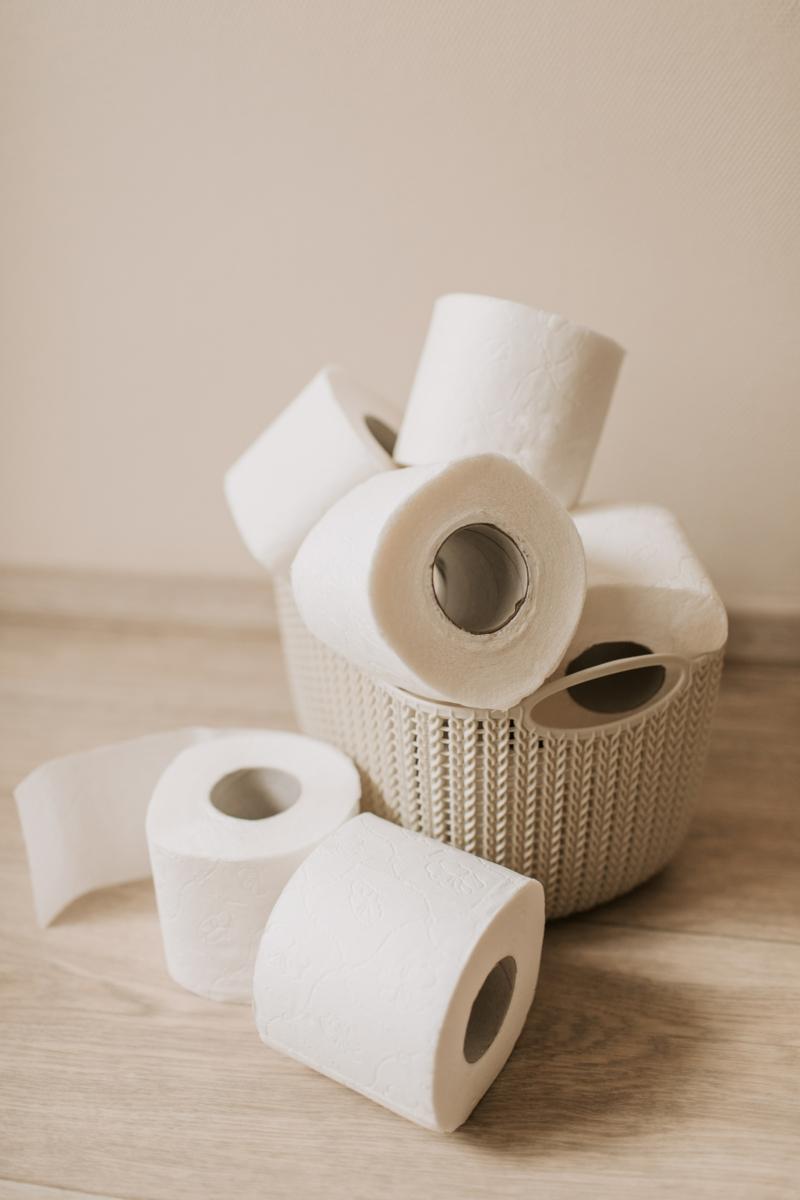 lait d amande diarrhée papier de toileette dans un panier