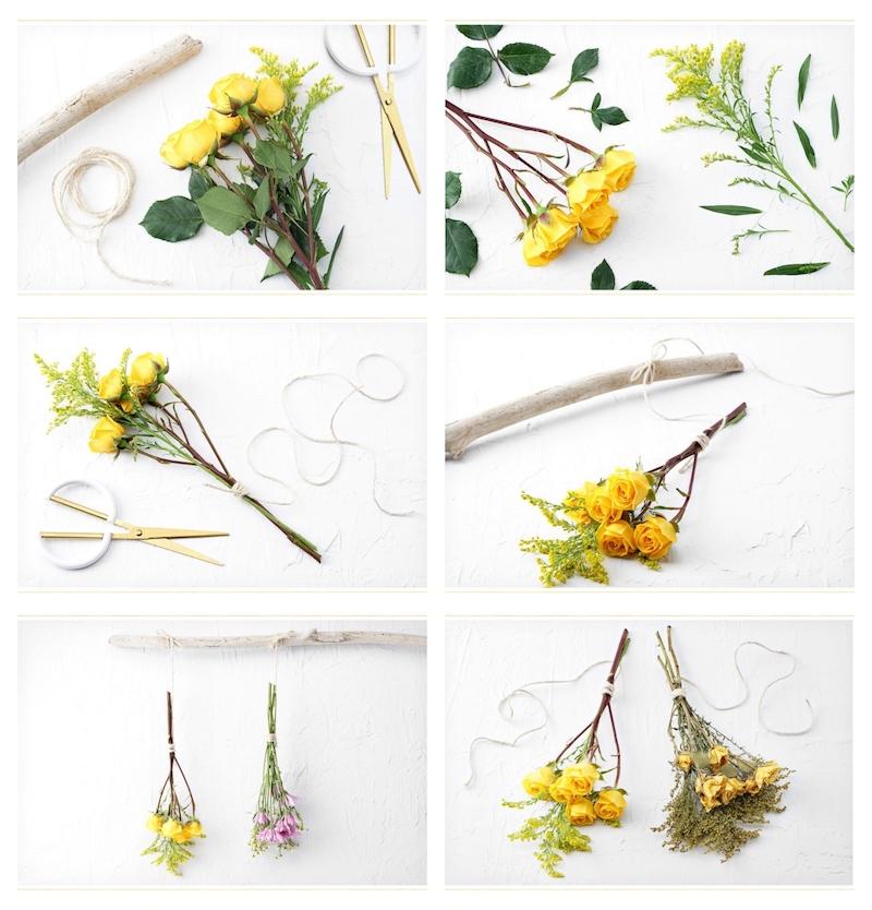 les étapes comment faire sécher des fleurs à l air libre facilement
