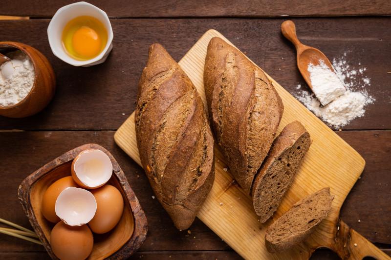 pain cetogene recette pain tranché composé d oeufs sel farine et levure chimique