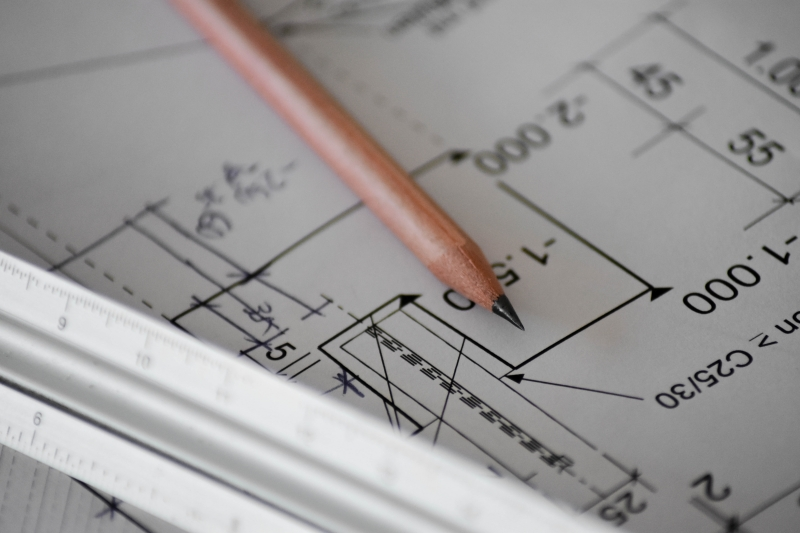 plan architecture construction travaux gestion execution