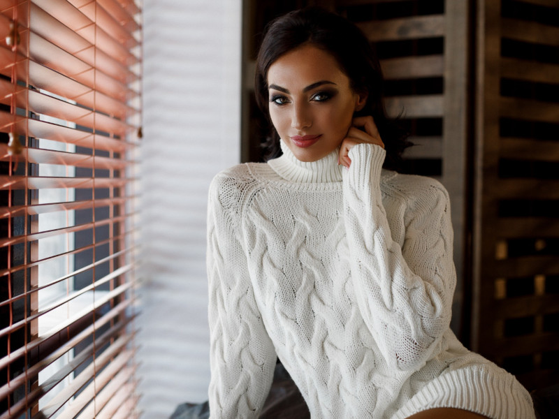pull grosse maille blanc