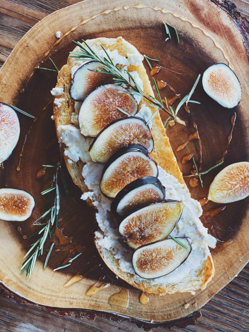 recette figues séchées sandwich de figue et de fromage