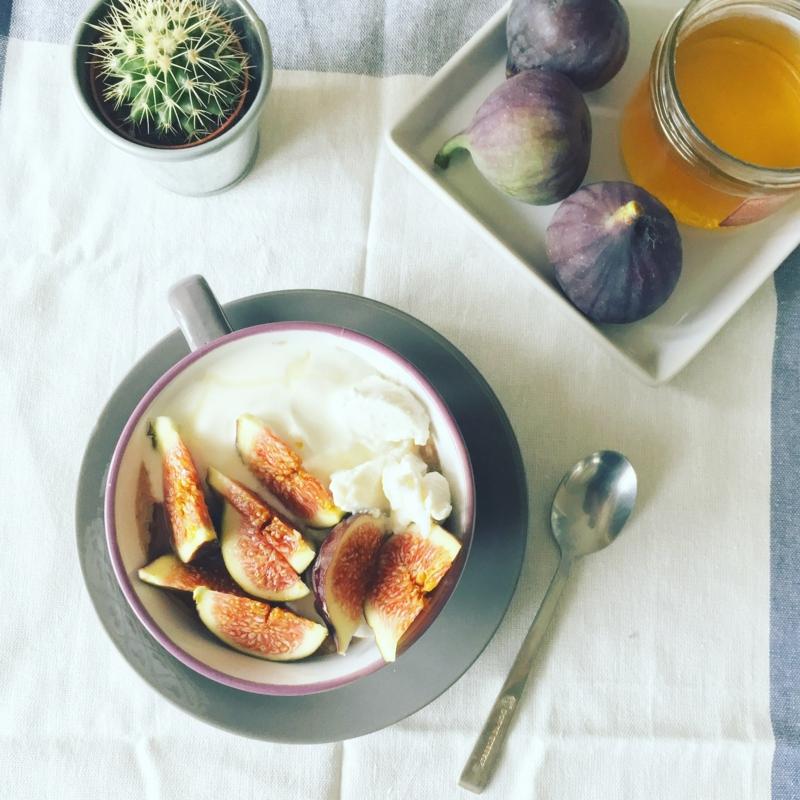 recette figues séchées yaourt aux figues fraîches et au miel