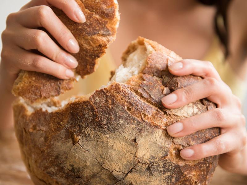 pain cétogène coupé en deux