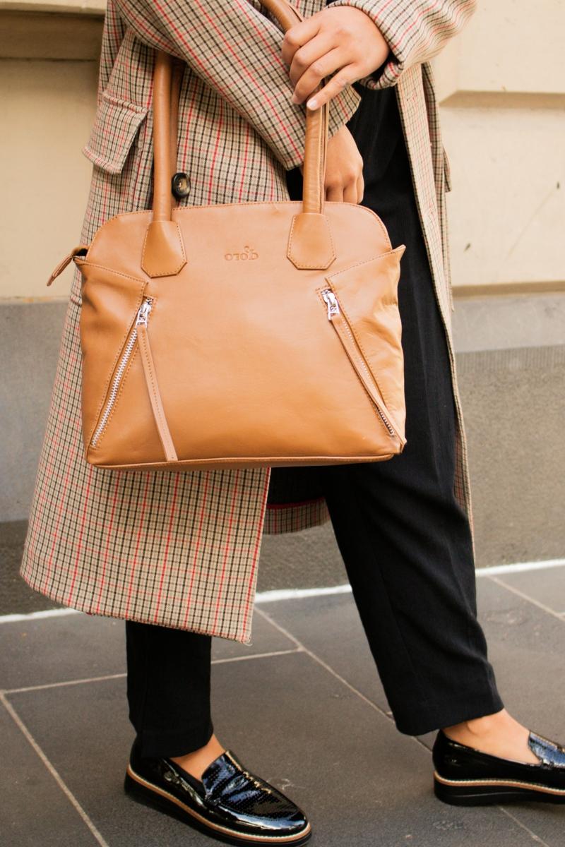 robe habillée sac hobo beige orange pour un style d automne