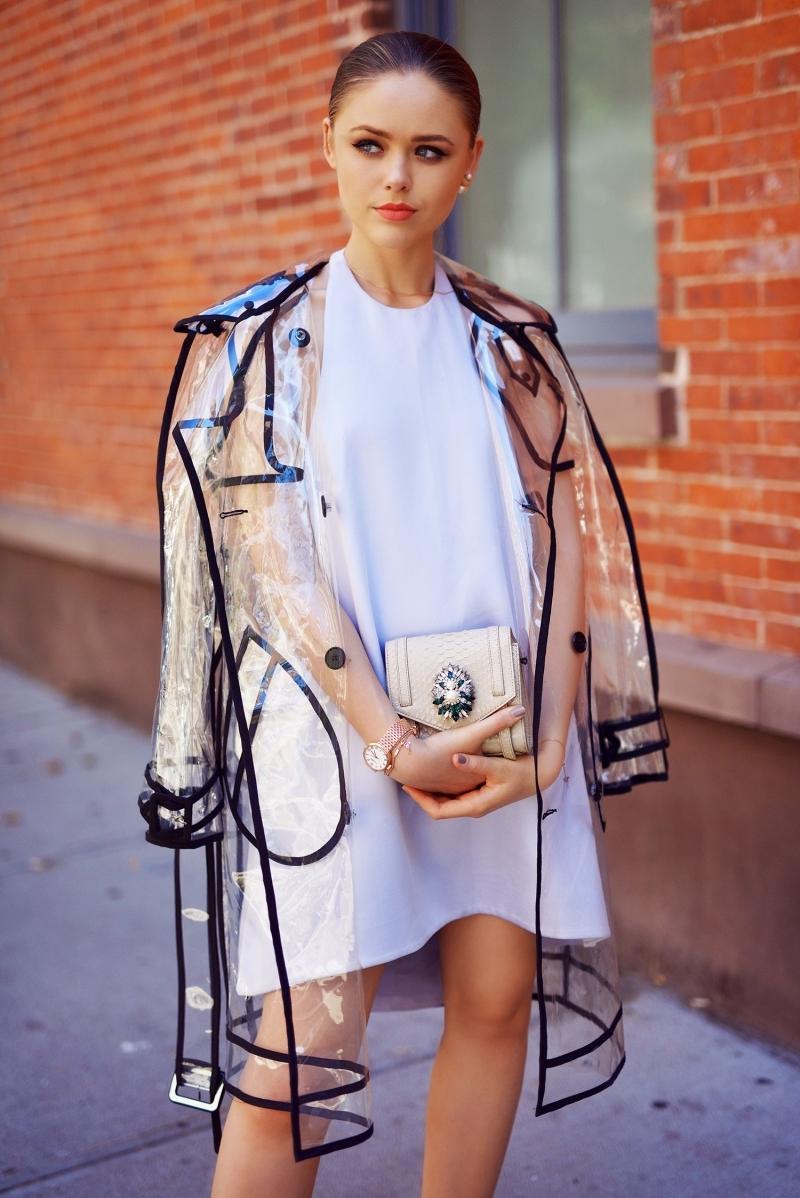 robe loose tenue de pluie pour femme manteau transparent