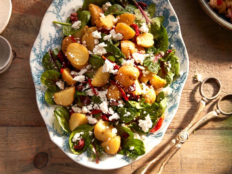 salade de pomme de terre marocaine à la feta salalde tomates séchées