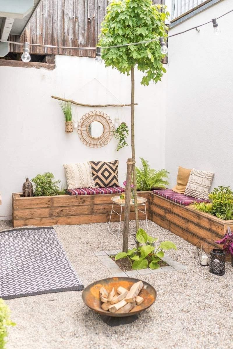 salon de jardin enterré ou pas décoration bohème extérieur