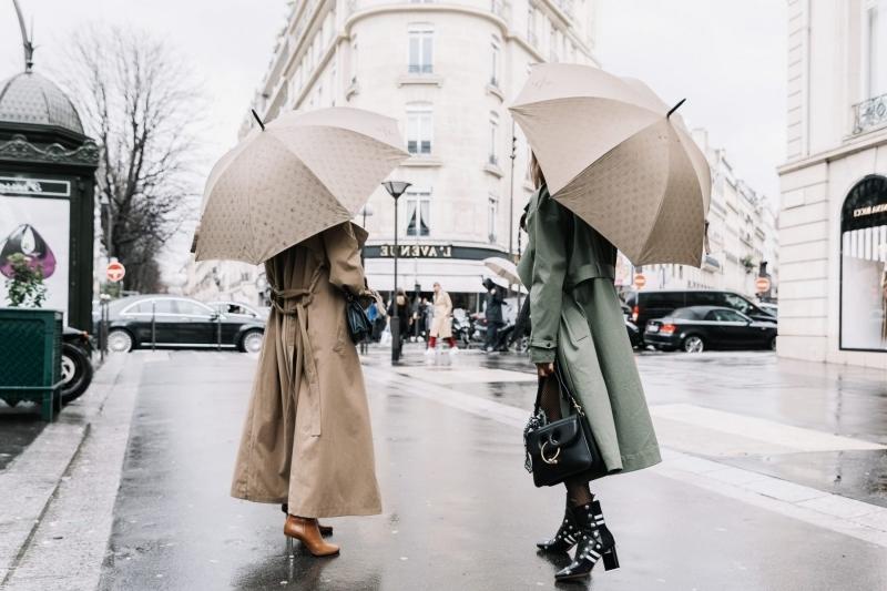 vetement de pluie femme parapluie accessoires mode automne