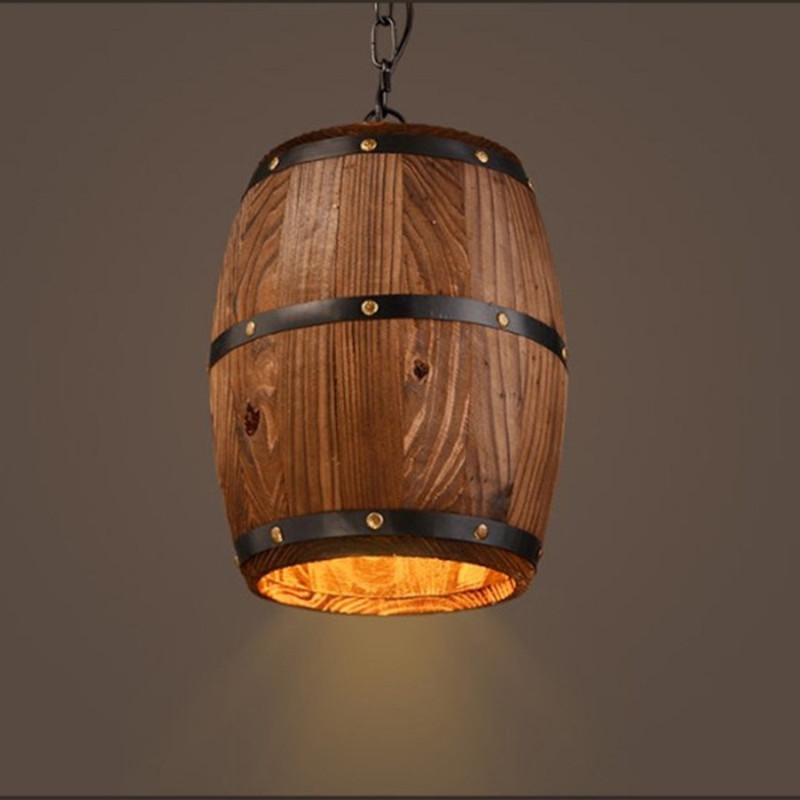 vieux tonneau en bois à vendre déco intérieure unique lampe en bois de tonneau