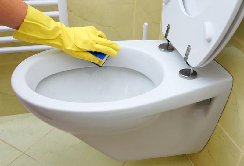 vinaigre blanc et vinaigre d alcool nettoyer les toilettes avec une éponge