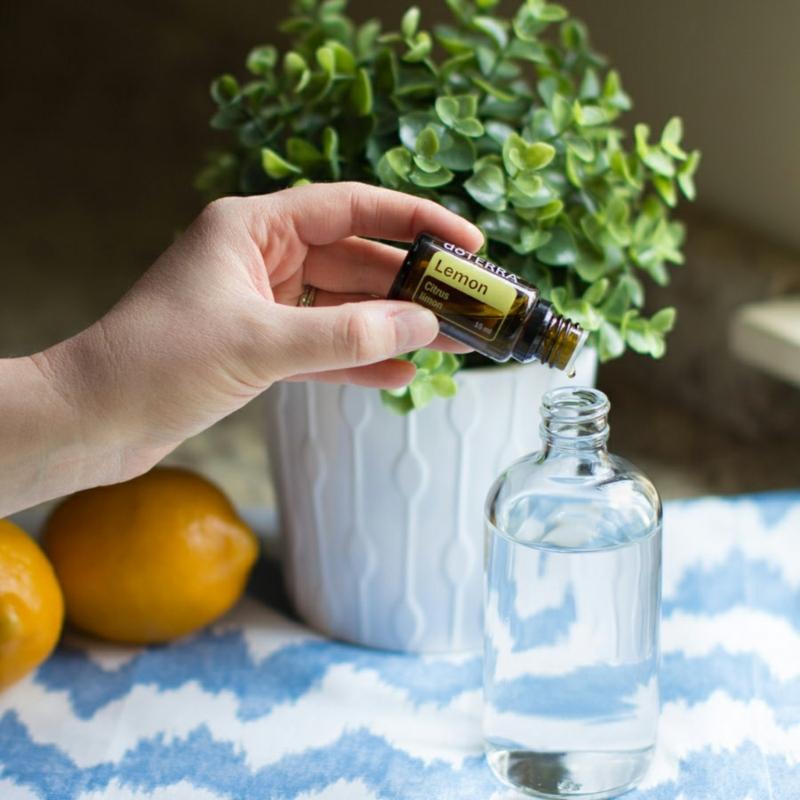 vinaigre d alcool cristal mettre de l huile essentielle citron dans le vinaigre