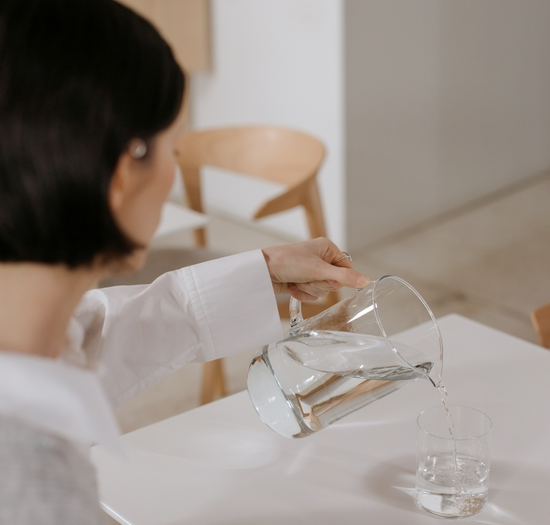 boisson pour perdre du ventre rester hydraté importance boire de l eau