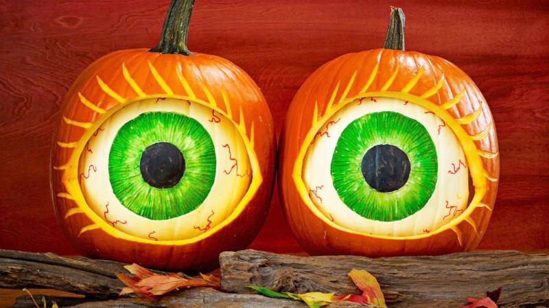 comment faire une citrouille d halloween des yeux verts géants citrouille oeil