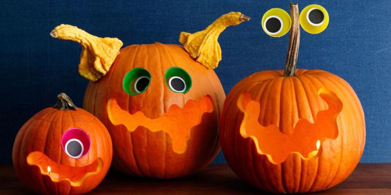 déco citrouille halloween faire des extra terrestres aux yeux qui sautent bouche édentée