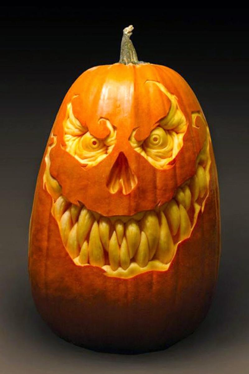 dessin d halloween qui fait peur créer d une citrouille un visage effrayant