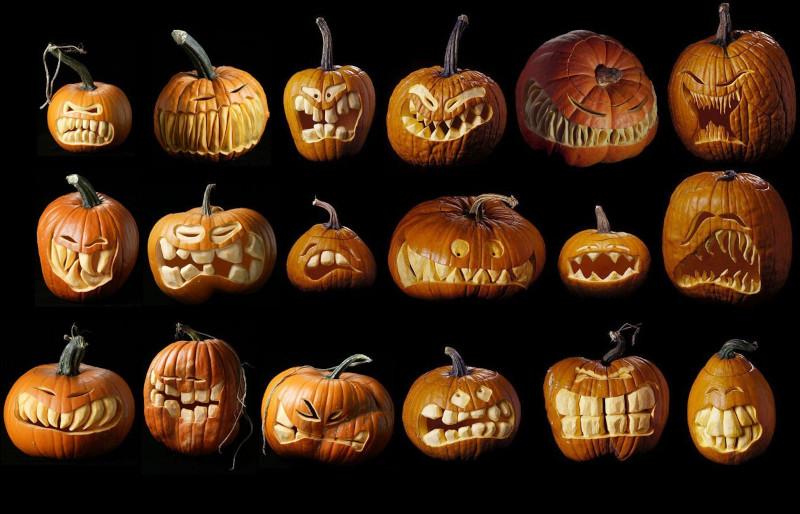 faire une citrouille d halloween choisir un motif effrayant ou amusant une palette de variantes