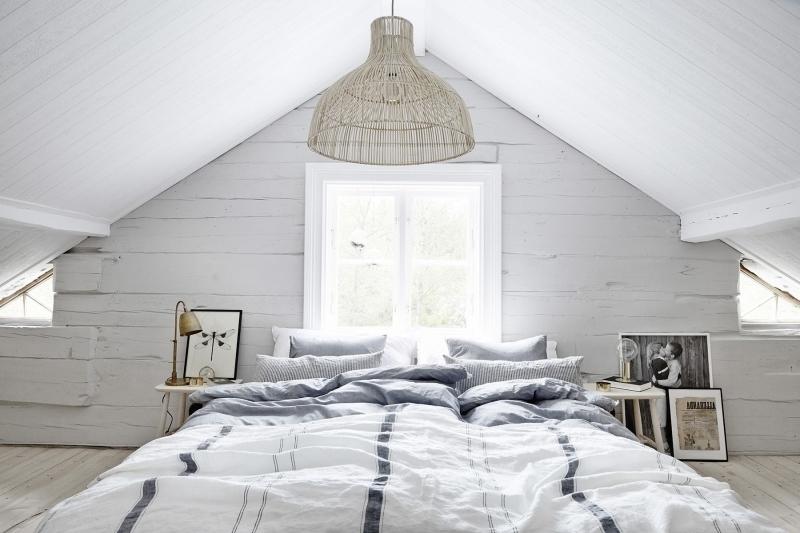 luminaire déco chambre cocooning potraits cadres blanc et noir