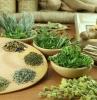 plantes aromatiques vivaces herbes séchées sur la table