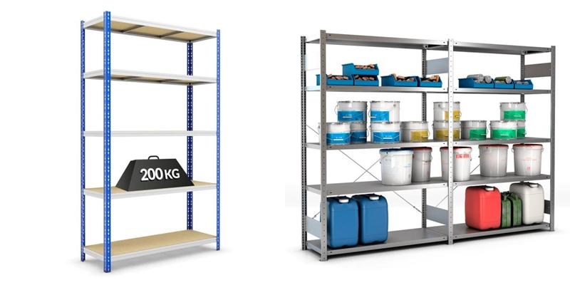 solution rangement ouvert garage etagere rangement vertical